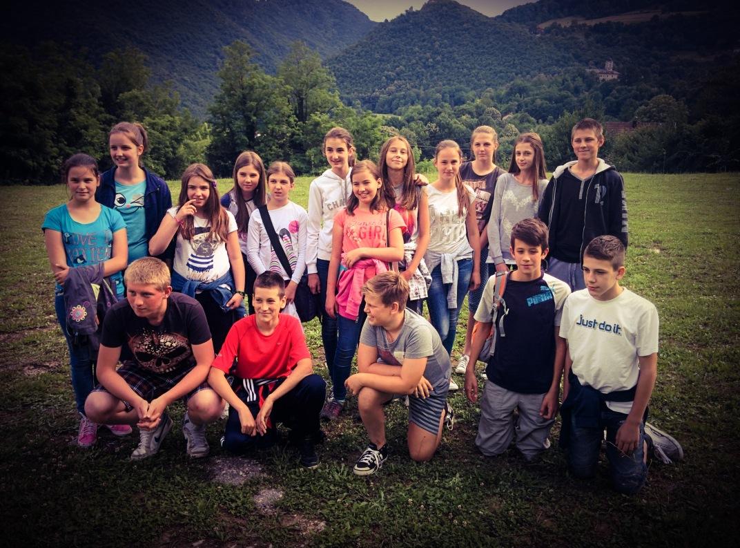 Izmenjava dijakov in osnovnošolcev Novega mesta in Banjaluke. Foto: Matija Korasa (2015)